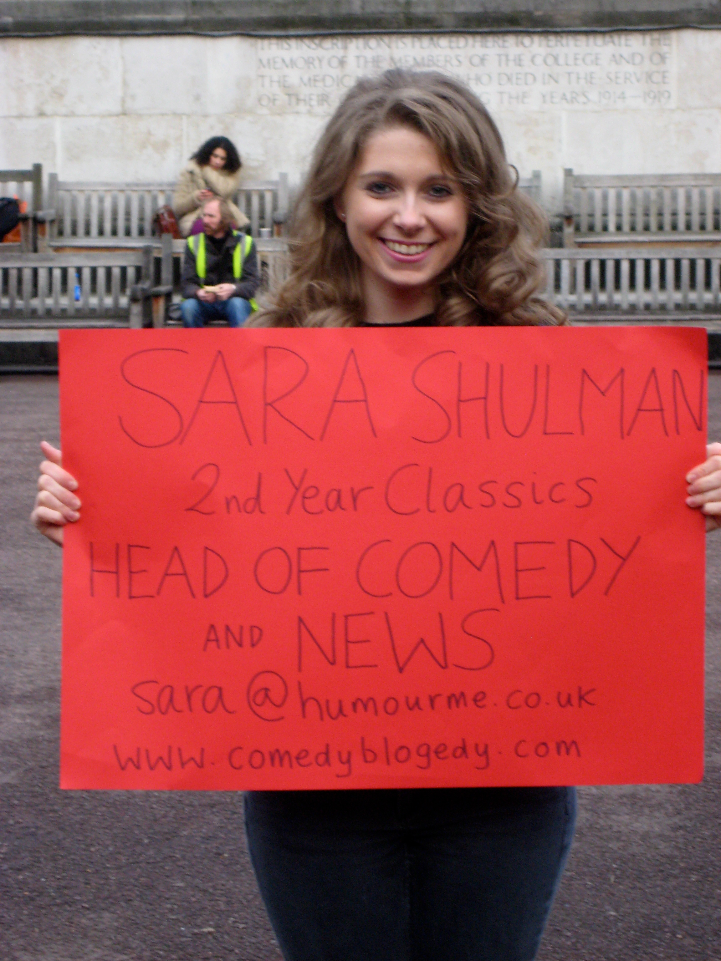 Image of Sara Shuman, Editor of Comedy Blogedy