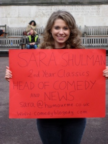 Sara Shulman from Comedy Blogedy