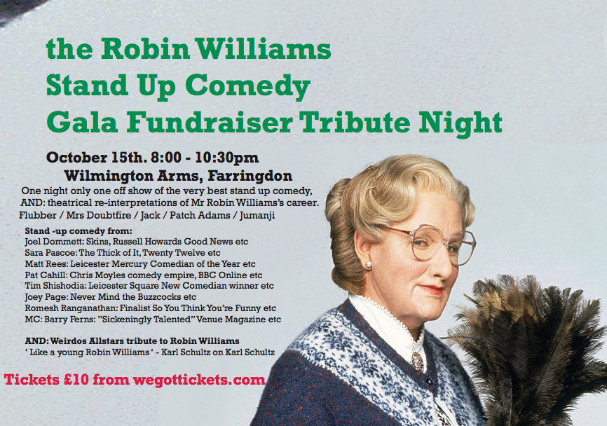 Robin Williams stand-up fundraiser gig