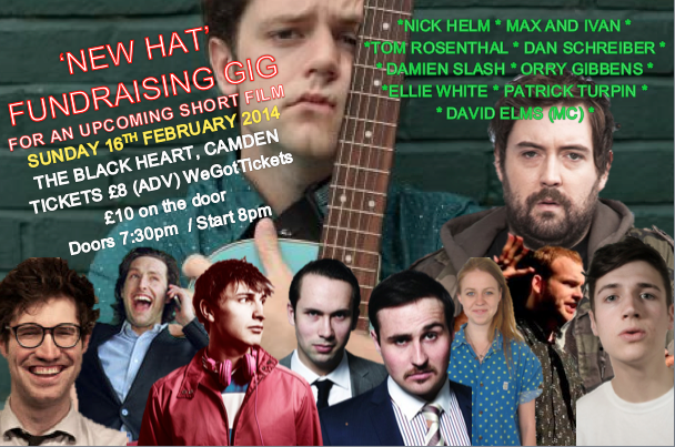 New Hat Fundraising Gig Poster